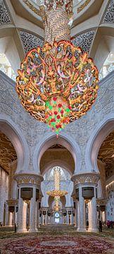 Grands lustres de la mosquée Sheikh Zayed à Abu Dhabi sur Rene Siebring