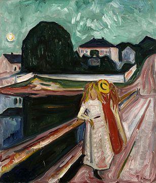Mädchen auf dem Pier, Edvard Munch