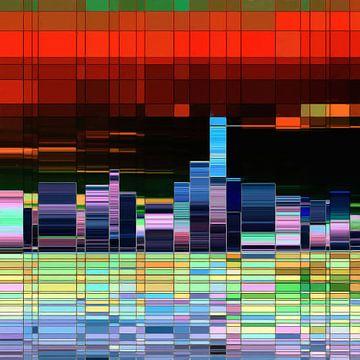 Abstrakte Stadtsilhouette von Maurice Dawson