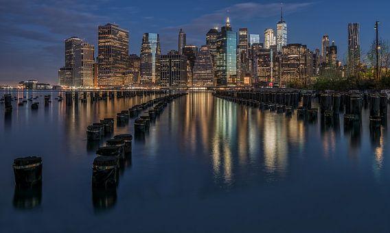 New York skyline van Reinier Snijders