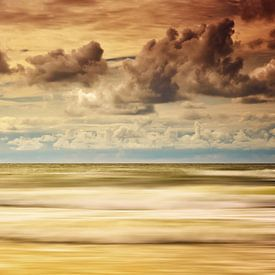 Stürmische Nordsee van Angela Dölling
