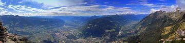 Blick von der Mutspitze von Hans van Oort