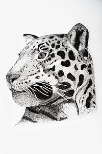 Luipaard - Origineel van Lianne Landsman
