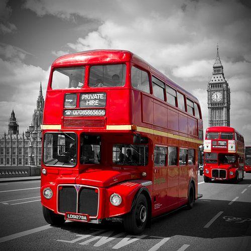 LONDON Rote Busse & Westminster Bridge