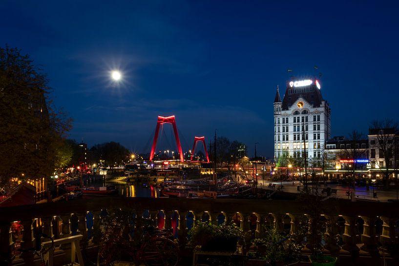 Rotterdam bij Nacht van Fotografie Ploeg