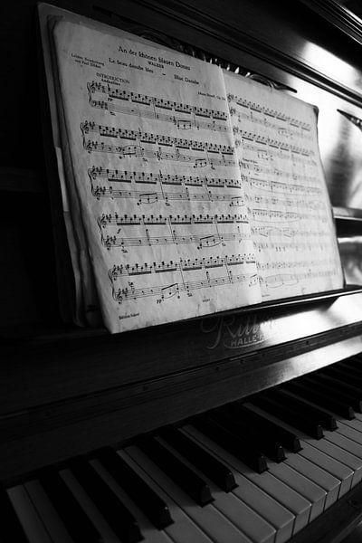 Pianol zwart-wit beeld
