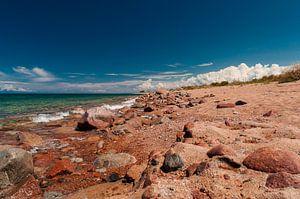 Het Issyk Kul meer in Kirgizië