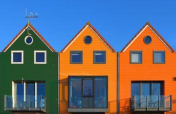 3 kleurrijke havenwoningen van Wim Goedhart