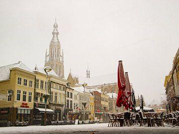 Breda - Grote Markt in de sneeuw van I Love Breda