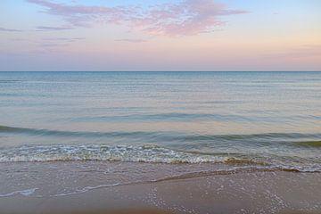Nordsee-Surfen bei Sonnenaufgang von Johan Vanbockryck