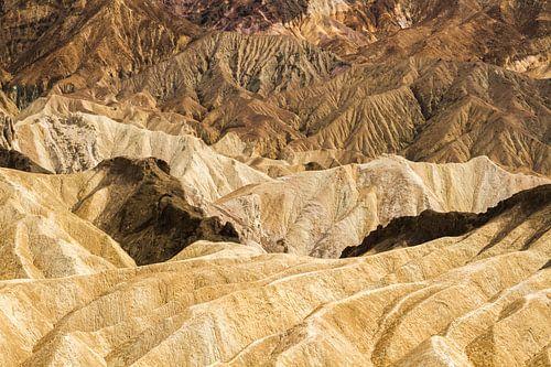 Zabriskie Point, Death Valley, Californië van Dirk Jan Kralt