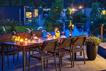 Avond diner aan het water von