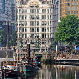 Rotterdam, le Haringvliet et la Maison Blanche sur Frans Blok