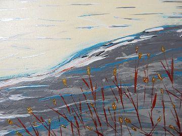 Gräser auf dem Berg van Peggy Gennrich