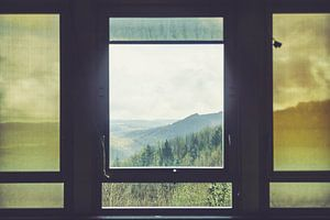 Uitzicht op de Ardennen van