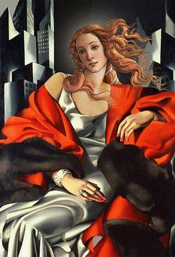 Venus herboren in Art Deco van Jerome Coppo