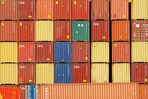 Container in de haven van Duisburg (7-76342) van Franz Walter