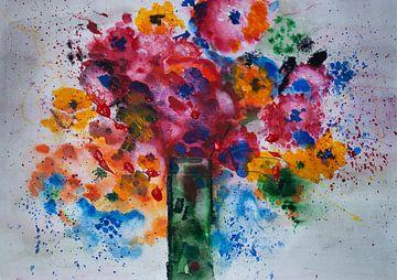 Kleurrijk boeket van Klaus Heidecker