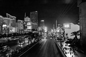 Las Vegas strip in de avond van