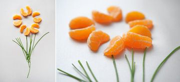 Collage Oranje Fruit van Wendy Bos