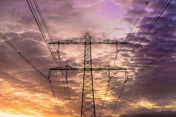 Veel kleur en een sfeervol energielandschap op een winterochtend van Mike Bot PhotographS