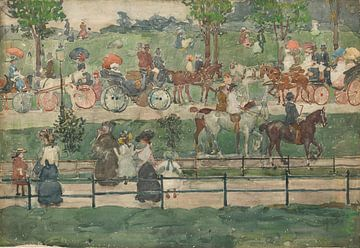 Maurice Prendergast~Central Park, 1900