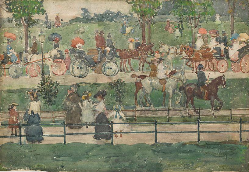 Maurice Prendergast~Central Park, 1900 von finemasterpiece