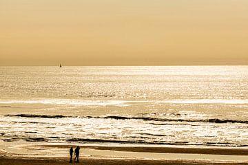 Avondlicht over de Noordzee von Brian Morgan