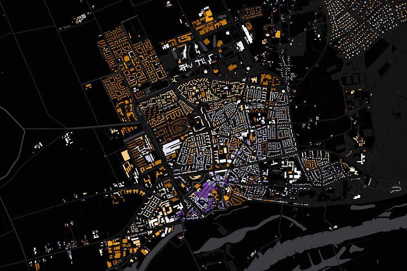 Kaart van Wageningen abstract van Stef Verdonk