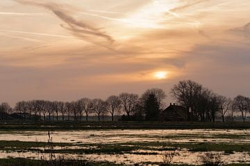 Zonsondergang over 't Roegwold von Margreet Piek
