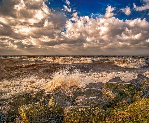 Storm bij Urk