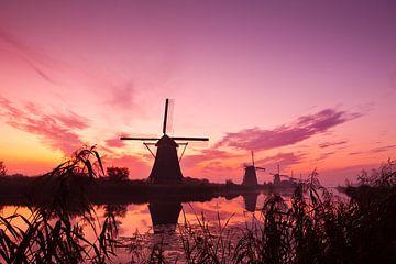 Kinderdijk bij zonsopkomst van Halma Fotografie