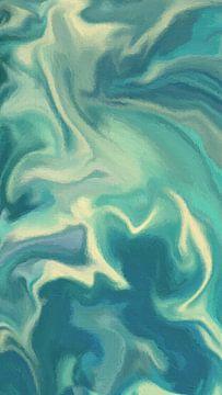 Abstrakt - Schwimmen von Schildersatelier van der Ven