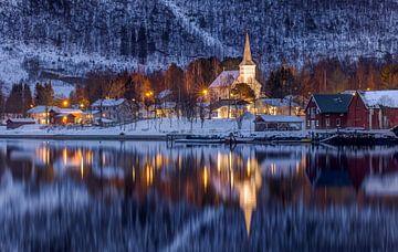 Rognan im Winter, Norwegen von Adelheid Smitt