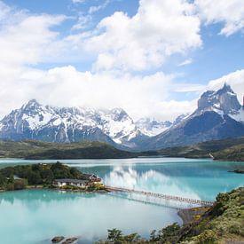 Lac Pehoe à Torres del Paine sur Erwin Blekkenhorst