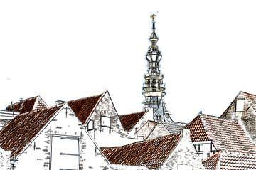 De daken van Zierikzee sur Mike Bing