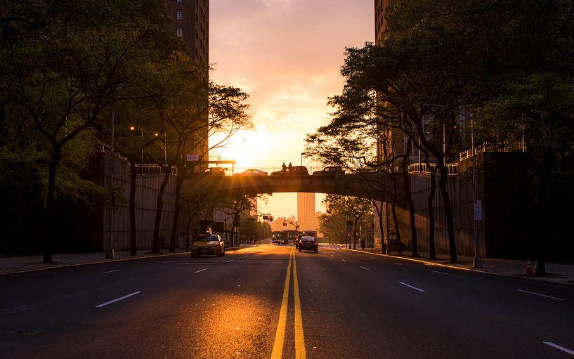 Straat New York City van Thomas Bartelds