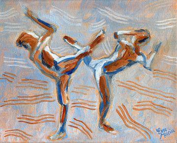 Duotone Tänzer von Eva van den Hamsvoort