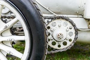 Mercedes 120 HP klassieke 1906 racewagen detail