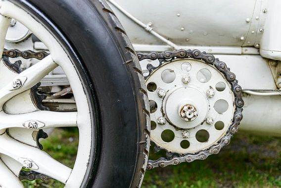 Mercedes 120 HP klassieke 1906 racewagen detail van Sjoerd van der Wal
