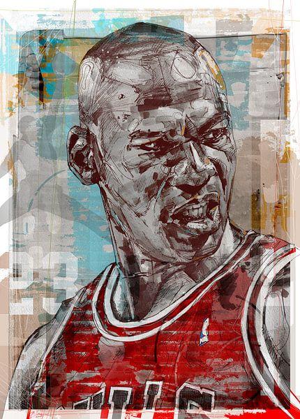 Michael Jordan pop art van Jos Hoppenbrouwers