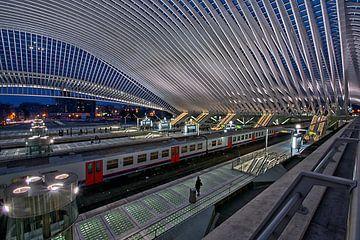 Vertrek /Station Luik-Guillemins  van Jo Miseré