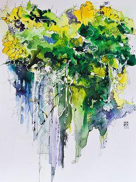 """abstrakte Bäume von Janny Schilderink......Atelier """"de Tuute """""""