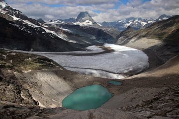 Gornergletsjer en Matterhorn - Wallis - Zwitserland van Felina Photography