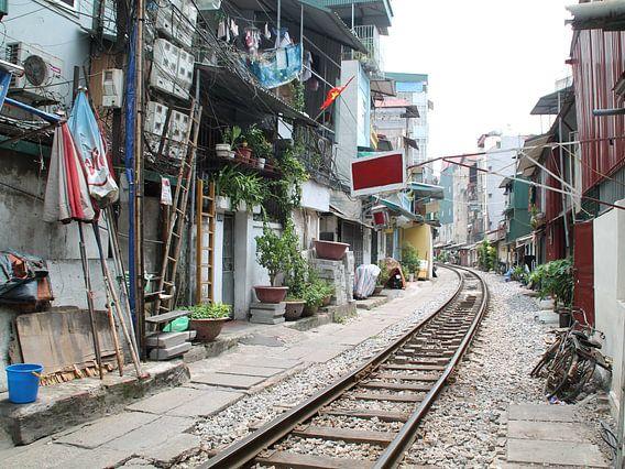 Hanoi Vietnam, spoorlijn