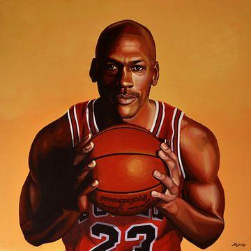 Michael Jordan Painting 2 van Paul Meijering