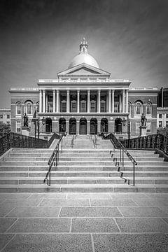 BOSTON Massachusetts State House | zwart-wit van Melanie Viola