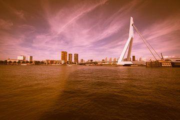 Rotterdam de Erasmusbrug van