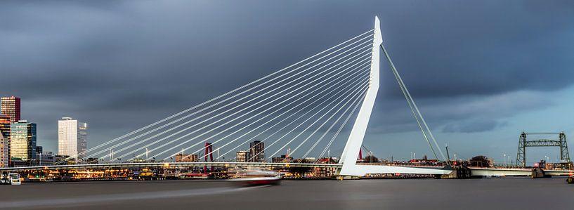 Photo panoramique de la ligne d'horizon de Rotterdam sur Miranda van Hulst