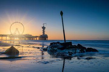 zonsondergang langs de kust van Scheveningen van gaps photography